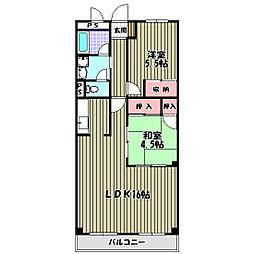グランドメゾン津々山台[3階]の間取り