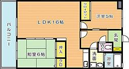 タウンコートII[3階]の間取り