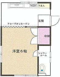 神奈川県川崎市多摩区生田8丁目の賃貸アパートの間取り