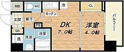 セイワパレス京町堀[5階]の間取り