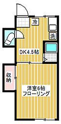 栗田コーポ[202号室]の間取り
