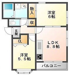サニーコート小曽根[1階]の間取り