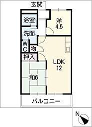 メゾン・ド・ラピュタ[2階]の間取り