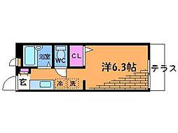 東京都調布市西つつじケ丘4丁目の賃貸アパートの間取り