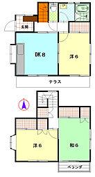 [一戸建] 神奈川県茅ヶ崎市小桜町 の賃貸【/】の間取り