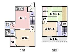 [テラスハウス] 神奈川県横須賀市東逸見町1丁目 の賃貸【/】の間取り