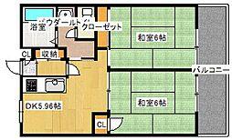 エスコート中崎[9階]の間取り