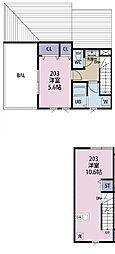 JR中央本線 西荻窪駅 徒歩3分の賃貸アパート 2階1LDKの間取り