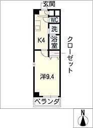マリナー コート ケイ[1階]の間取り