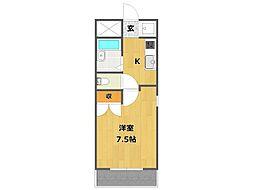 ドミール稲野[2階]の間取り