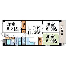 ドミール武庫川[3階]の間取り