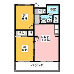 桜ヶ丘ハイツ[3階]の間取り