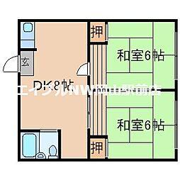 川崎コーポ[2階]の間取り
