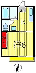 レインボーヴィラ3・5・6[1階]の間取り