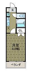 新百合グリーンハウス[3階]の間取り