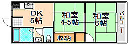 兵庫県伊丹市山田6丁目の賃貸マンションの間取り