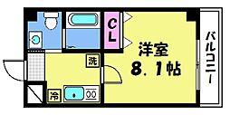 仮)梅津神田町共同住宅 3階1Kの間取り