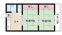 愛知県名古屋市南区豊田5丁目の賃貸マンションの間取り