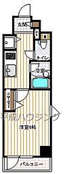 ガーラ・ステーション新宿牛込柳町[6階号室]の間取り