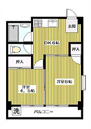 第2ニューハイム西台[1階]の間取り