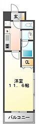 ルーエ江坂[2階]の間取り