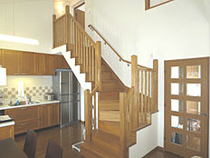 開放感あるリビング階段