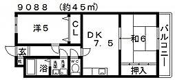 サニーハイツII[106号室号室]の間取り