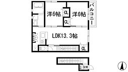 サクセスコート末成町[2階]の間取り