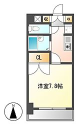 シャンポール大須[6階]の間取り