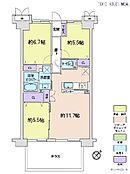 3LDK・専有面積70.40平米・バルコニー面積6.96平米
