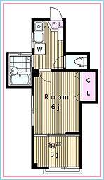 トキワコーポ[3階]の間取り