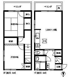 [テラスハウス] 東京都中野区江古田4丁目 の賃貸【/】の間取り