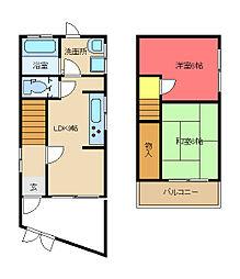 [一戸建] 大阪府東大阪市御厨4丁目 の賃貸【/】の間取り