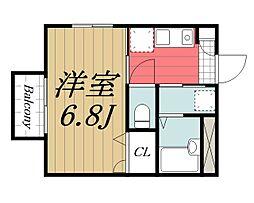 千葉県千葉市若葉区西都賀2丁目の賃貸アパートの間取り