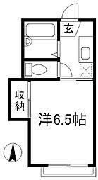 和香ハイツ[1階]の間取り