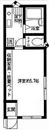 アベニウム中島[102号室号室]の間取り