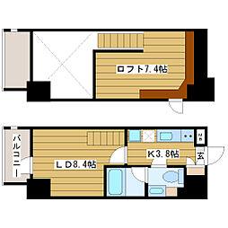 リセス大阪イースト[2階]の間取り
