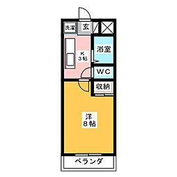 トップエクシード[3階]の間取り