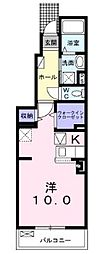 JR高徳線 木太町駅 徒歩11分の賃貸アパート 1階1Kの間取り