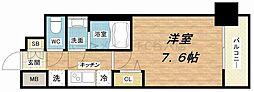 プランドール江戸堀レジデンス[11階]の間取り