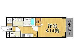 Grande甲子園口[6階]の間取り