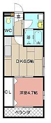 maison de la grue折尾[101号室]の間取り