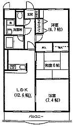 ソレイユ町田[1階]の間取り