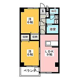 インペリアルハイツHIRO[1階]の間取り