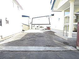 駐車場北側から...