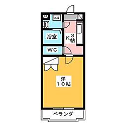 K−STAGE[2階]の間取り