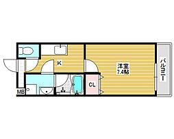 フジパレス愛泉[1階]の間取り