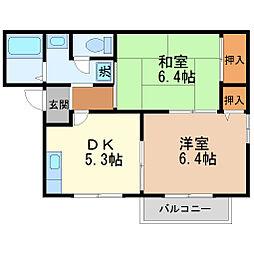 ポアン・ドルクII[2階]の間取り