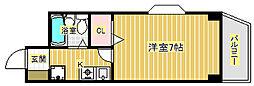 キャピタルII[4階]の間取り