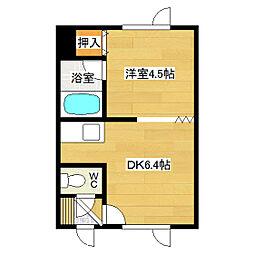 吉野ハイツ1[102号室]の間取り